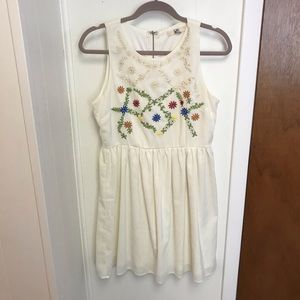 Dress with Floral Embroidery Detail